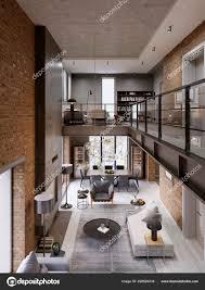 Loft Modernes Interieur Als Eine Offene Moderne Wohnung