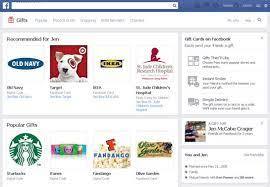 give gifts and gift cards on facebook