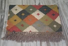 details about anatolian kilim 48 x72 inch hand made turkish wool jute rug vintage kilim rug