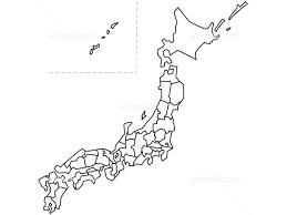 上選択 日本 地図 白地図 フリー 子供と大人のための無料印刷可能な