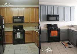 painting kitchen cabinets before and afterBrilliant Kitchen Cabinets Before And After Top Kitchen Renovation