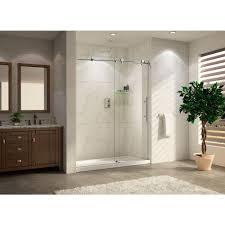 wet republic trident lux premium 60 in x 76 in frameless sliding shower door