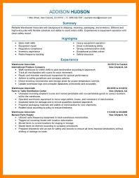 7 Warehouse Resume Job Apply Form