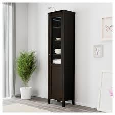 Glass Door Cabinet Hemnes Cabinet With Panel Glass Door Black Brown Ikea