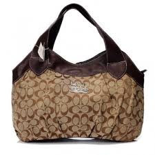 Cheap Black Friday Coach In Signature Medium Coffee Hobo BBY