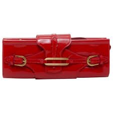 jimmy choo red patent tulita clutch for