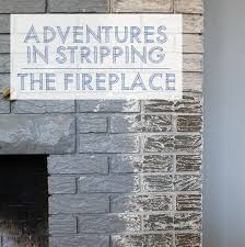 creative decoration remove paint from brick fireplace adventures in stripping refinishing fireplace brick this american