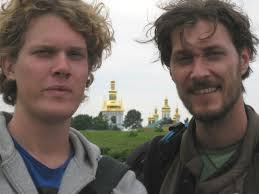 romanian people. mihai in ukraine with dutch guy friend romanian men riders romanians people