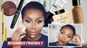 affordable makeup tutorial for dark skin woc black women d beginnermakeuptutorial