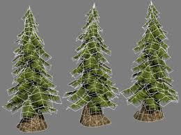 hand painted pine tree
