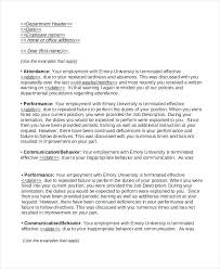 Termination Of Employment Letter Template Letter Of Termination Of Employment Sample Employee Separation