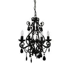 4 light black mini chandelier