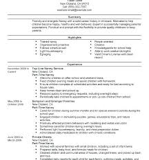responsibilities of a nanny for resumes word to do list template nanny onlineemily info