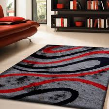 new red area rugs