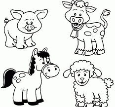 Cool Free Printable Coloring Pages Farm Animals Coloring Page Free