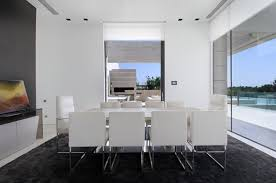 Modern Dining Rooms - Modern white dining room sets