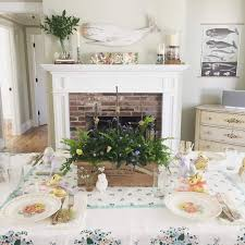 decoration for table. Mantlepiece And Dinner Table Decoration For Easter