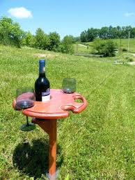 outdoor wine table outdoor wine table and wine glass holder