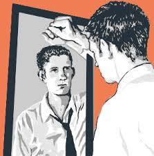 Image result for man looking in mirror
