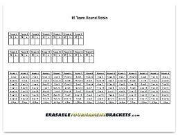 Team Snack Schedule Template 4 Team Schedule Template Volleyball Tournament Bracket 5