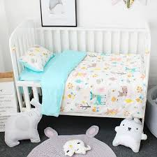 3 pcs set baby bedding set including duvet cover pillowcase bed sheet pure cotton baby linen baby crib