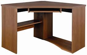 corner office table. Furniture:Simple Brown Wood Corner Computer Table For Home Office Ideas With Pull Out Keyboard
