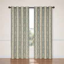 eclipse nadya blackout smokey blue polyester curtain panel 95 in length