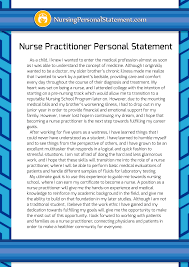 nurse personal statement writing a professional nurse practitioner personal statement