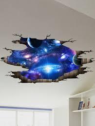 3d galaxy pattern wall stickers