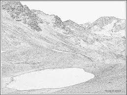 Coloriage Paysage Denude Imprimer Pour Les Enfants Dessin Montagne