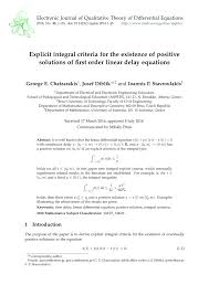 pdf on the critical case in oscillation for diffeial equations with a single delay and with several delays