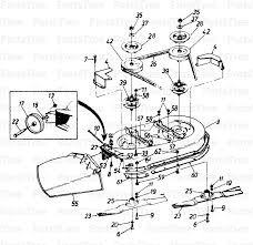 riding lawn mower parts diagram. mtd tmo-3100002 (133p670g088) - montgomery ward signature lawn tractor (1993) deck assembly diagram and parts list | partstree.com riding mower