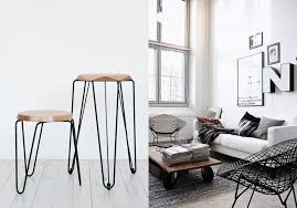 wire furniture. These Nested Hairpin Stools Are Amazing. We Want To Put A Lush Houseplant On Top! Also Love The Bertoia Wire Backed Diamond Chair! Furniture
