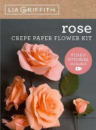 Paper Flower Kit Crepe Paper Rose Flower Kit Shop Lia Griffith