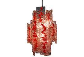 italian vintage mazzega murano glass chandelier