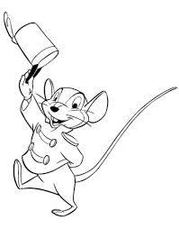 Timothy Q Mouse Coloring Page Dumbo Coloring Pages Disney