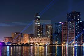 Skyline Festival Of Lights Discount Sharjah Modern Skyline During Light Festival At Night
