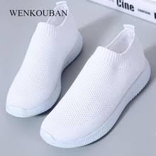 2019 <b>Women</b> Sneakers <b>Fashion</b> Socks Shoes Casual White ...