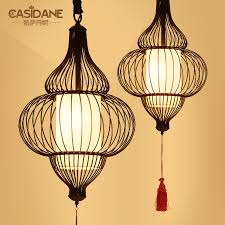 get ations modern chinese iron birdcage lamp cage chandelier lamp creative restaurant retro antique teahouse hotel 88261