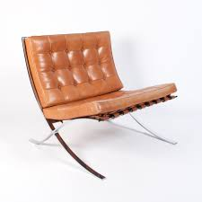 Image Barcelona Alteriors Cognac Leather Barcelona Chair By Ludwig Mies Van Der Rohe For Knoll 1990s