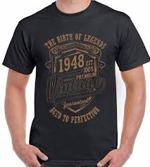 2018 summer fashion hot the birth of legends 1948 70th birthday mens funny t