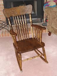 remarkable antique wooden rocking chairs hd photos chair s vintage back replacement parts mission style value salt and pepper