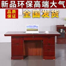 Image Design Office Desk Home Solid Wood Paste Leather Computer Desk Drawer Lock Staff Desk Boss Desk Desk Chinahaocom Usd 12045 Office Desk Home Solid Wood Paste Leather Computer Desk