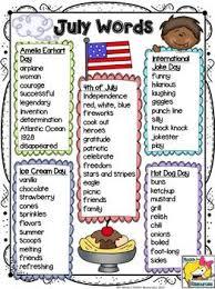 Summer Word List July Word List Teaching Writing Words Interactive