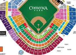 37 Actual Comerica Park Seating