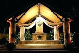 solar gazebo string lights outdoor lighting hanging chandeliers chandelier decorating small spaces lig