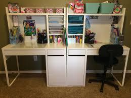 ikea micke desks for the kids done