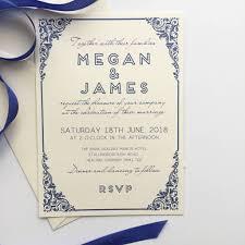 Traditional Wedding Invitation Traditional Wedding Invitation With Art Deco Border By Claryce