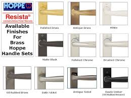 hoppe sliding door handles the solid brass hoppe handle sets are available in 10 finishes