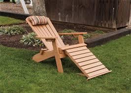 image of folding wooden adirondack chairs
